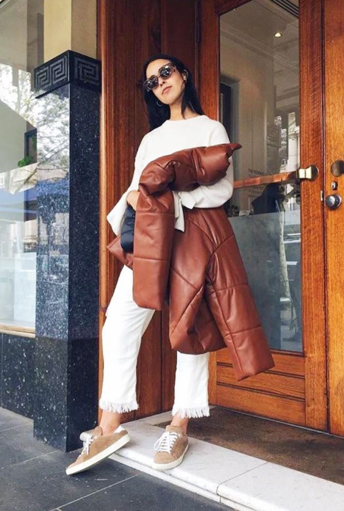 The Brown Puffer Jacket Every Influencer Is Wearing Who