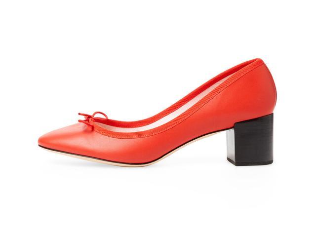 Repetto Farah Leather Block Heel Pump