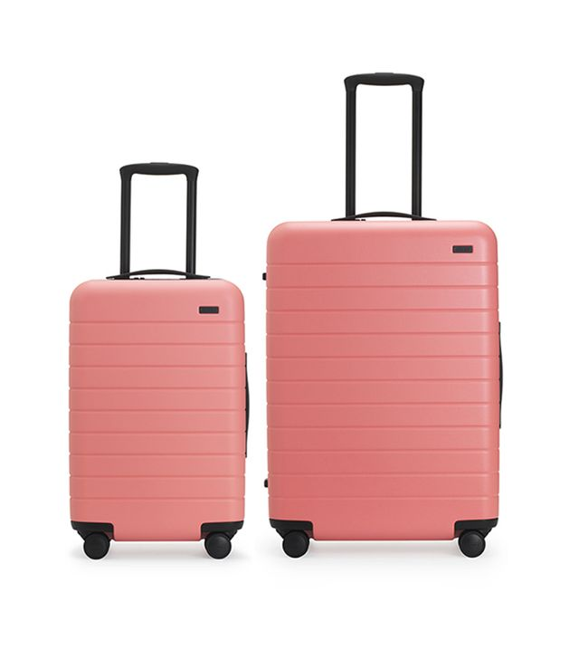 Away Set of Two Luggage Set in Gray Malin in Coral