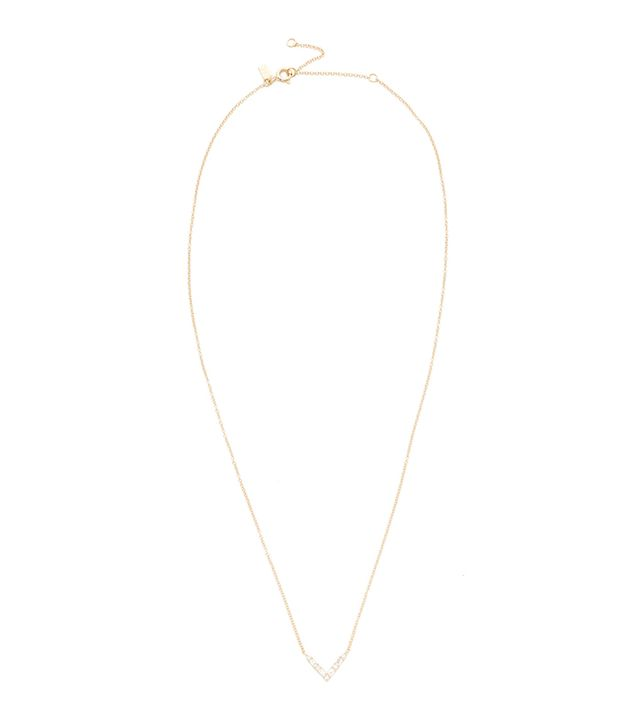14k Gold Diamond Chevron Necklace