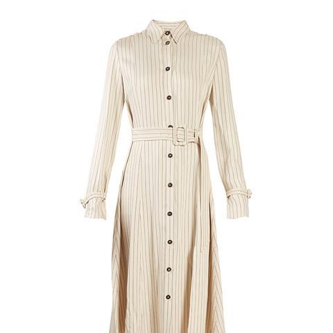 Fiona Waist Belt Pintstriped Shirtdress