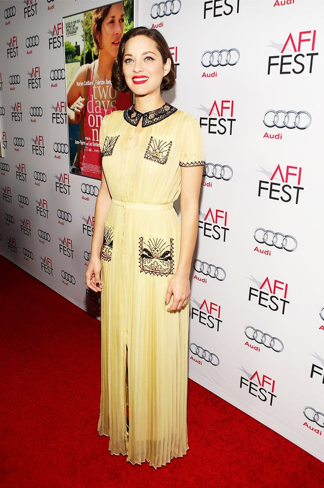 <p><strong>On Marion Cotillard:</strong> Valentino dress</p>