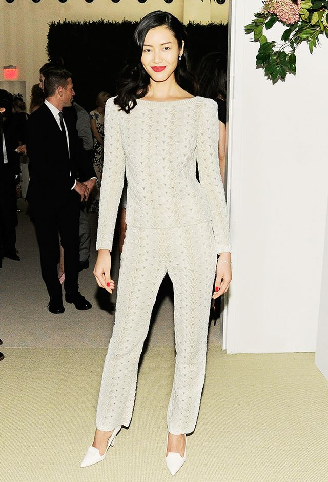 <p><strong>On Liu Wen:</strong> Zac Posen top and pants</p>