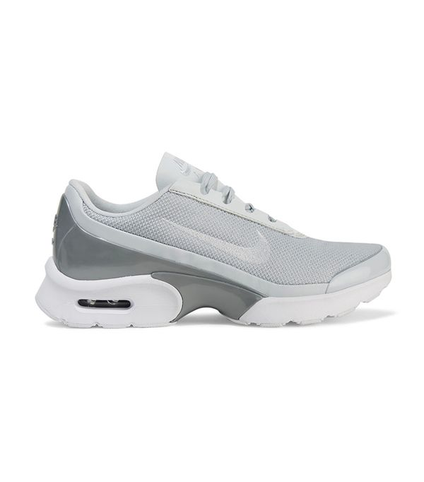 Air Max Jewell Leather-trimmed Mesh And Plastic Sneakers
