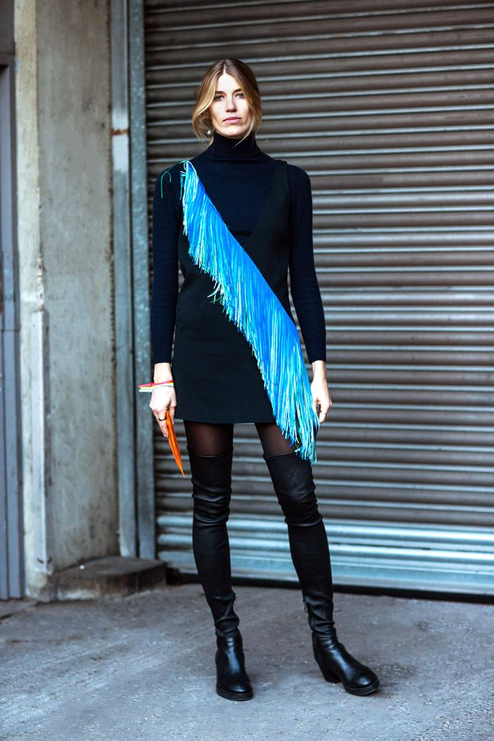 402fc9dc6afe19 17 Ways to Wear Your Dresses With Tights and Boots | Who What Wear