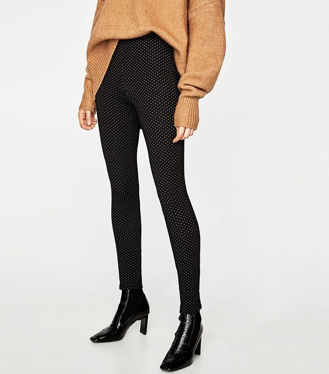 Zara Micro-Jacquard Leggings