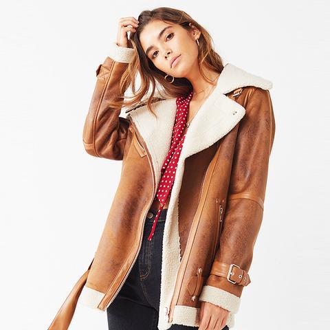 Oversized Faux Sherpa Jacket