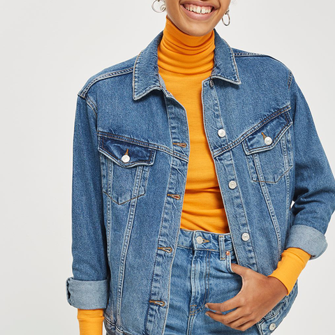 Moto Oversized Denim Jacket