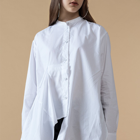 Button Front Side Slits Shirt