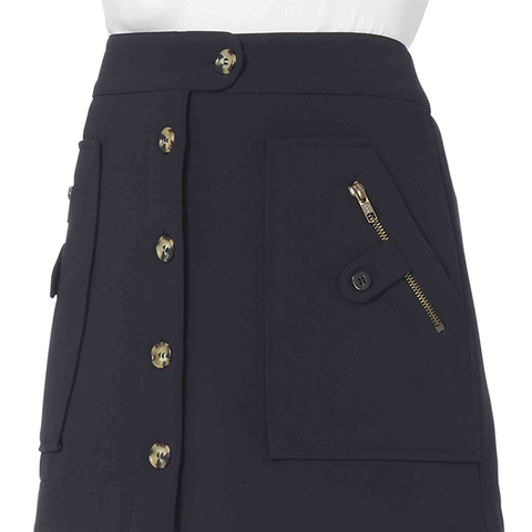 Monroe Cargo Skirt in Navy