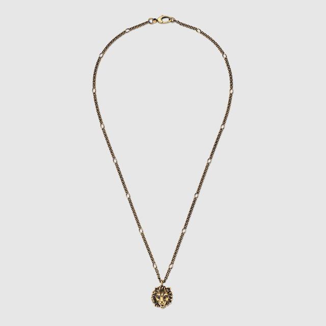 8f127fd53 Gucci Necklace With Lion Head Pendant, $355