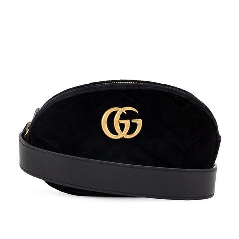 Black Marmont Velvet Belt Bag