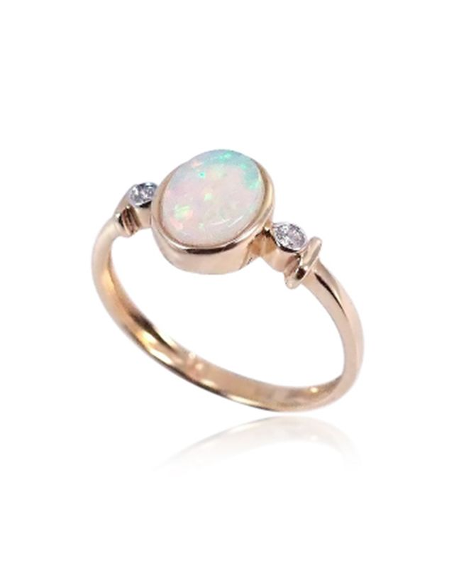 Opals Down Under Solid Crystal Opal Ring