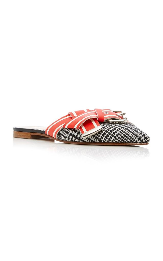 Glen Plaid Racing Stripe Mule