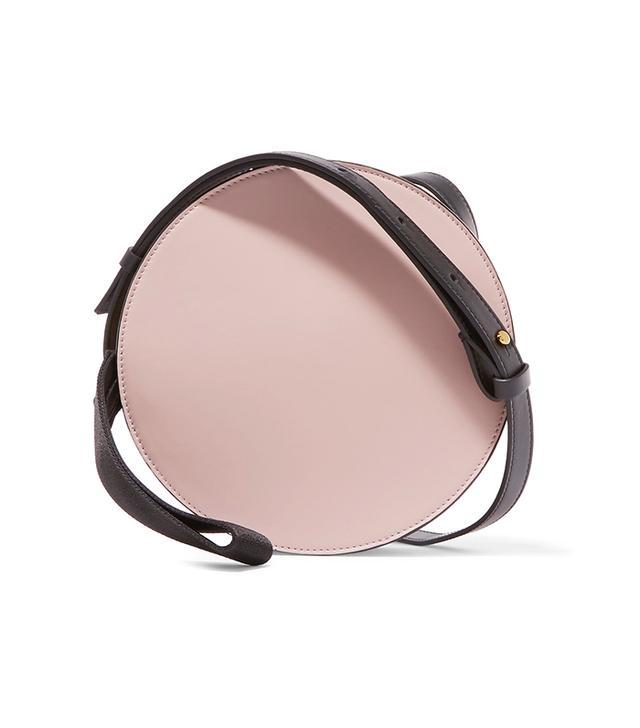 Tambourine Color-block Leather Shoulder Bag