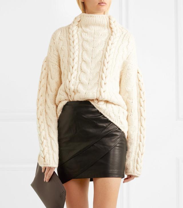 Nijyn Oversized Cable-knit Alpaca-blend Sweater