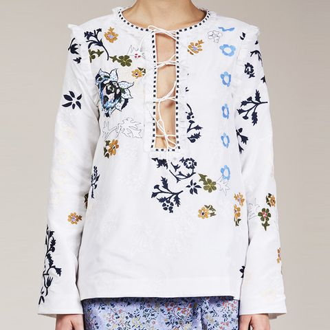 The Penny Blouse in White