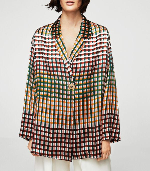 Wrapped silk blouse