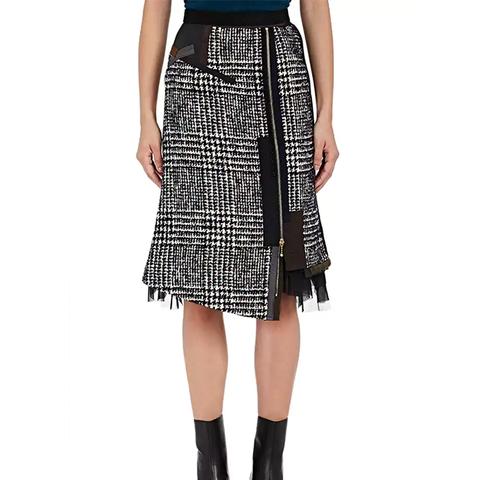 Cotton-Blend Tweed Pencil Skirt