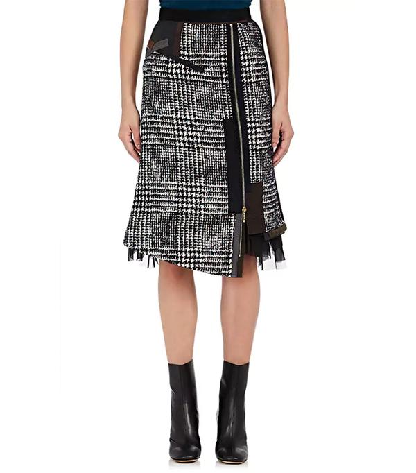 Women's Cotton-Blend Tweed Pencil Skirt