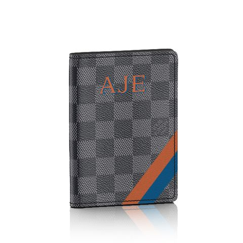 Passport Cover Mon Damier Graphite