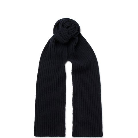 Ribbed Wool And Cashmere-Blend Scarf