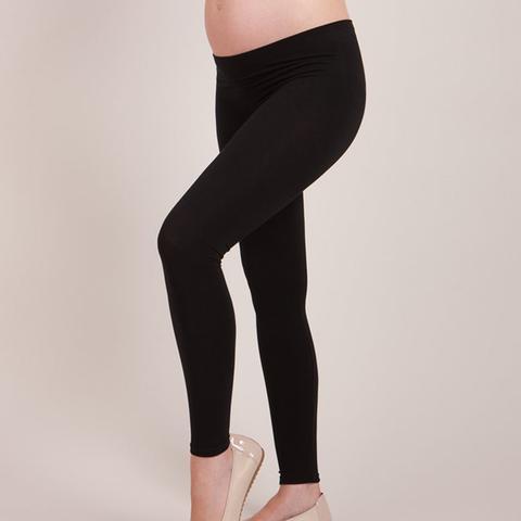 Black Bamboo Active Under-Bump Maternity Leggings