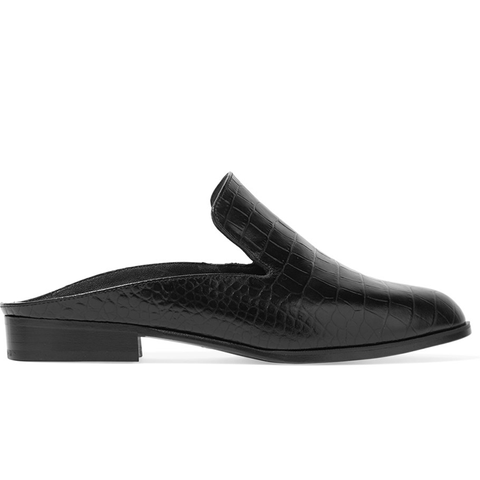 Alicek Croc-Effect Leather Slippers