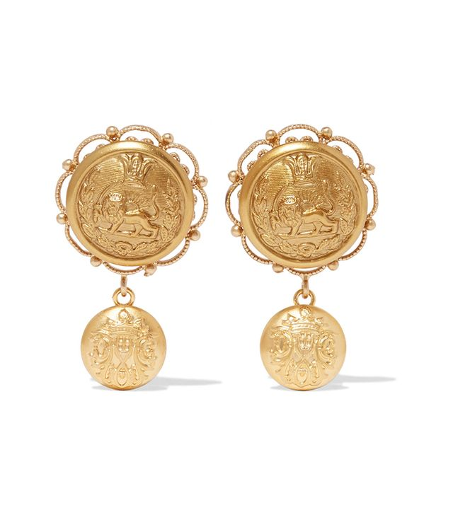 best gold oversize hoop earrings