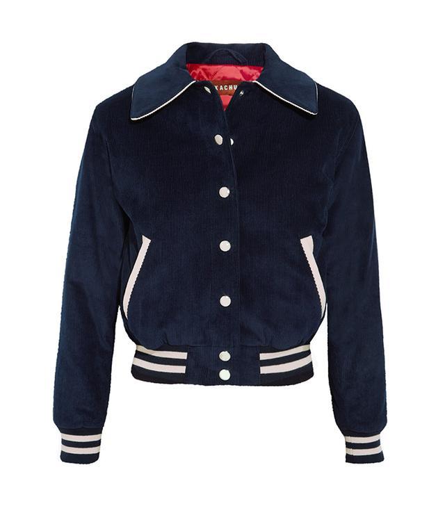 Cropped Cotton-corduroy Bomber Jacket