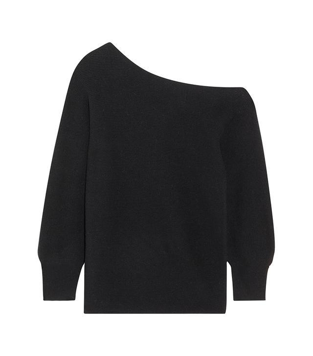 One-shoulder Wool Sweater