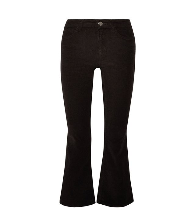 Marty Cropped Stretch-cotton Corduroy Flared Pants