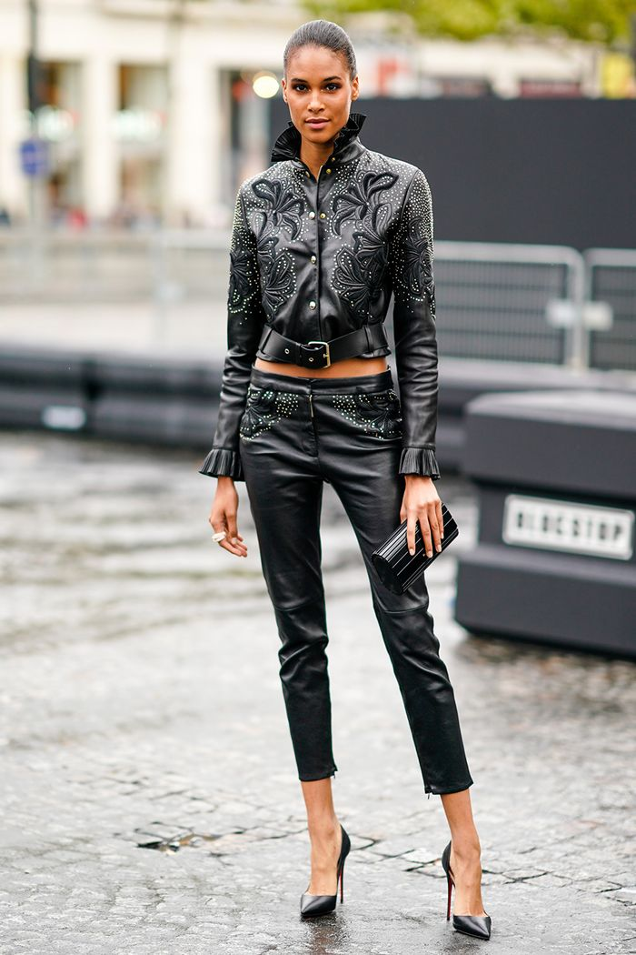 How To Wear Leather Pants Like A Fashion Girl Who What Wear