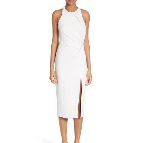 Devon Crossover Detail Stretch Cady Dress