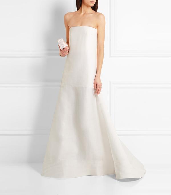 Maury Drop-waist Wool And Silk-blend Gown