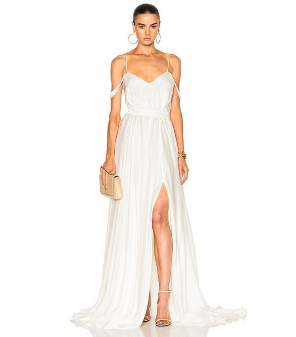Morgan V Neck Empire Gown