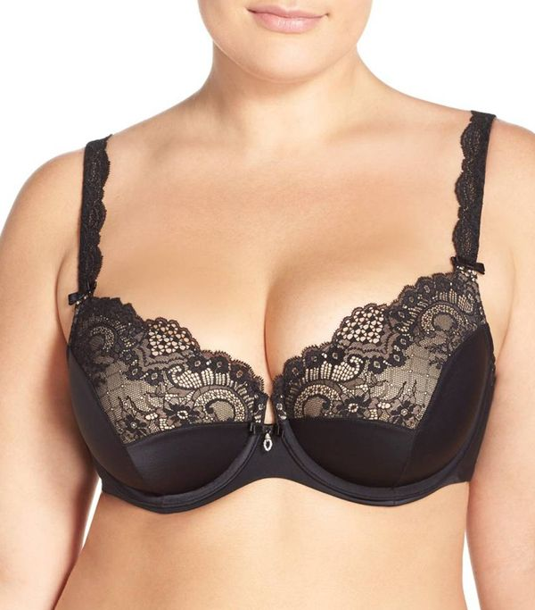 Plus Size Women's Curvy Couture 'Foxy' Lace Balconette Bra
