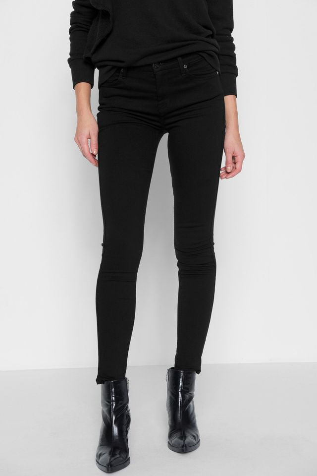 7 for All Mankind Slim Illusion Luxe: High Waist Skinny Jeans