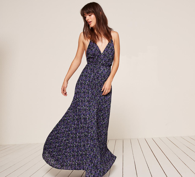 Reformation Pleated Maxi Dress