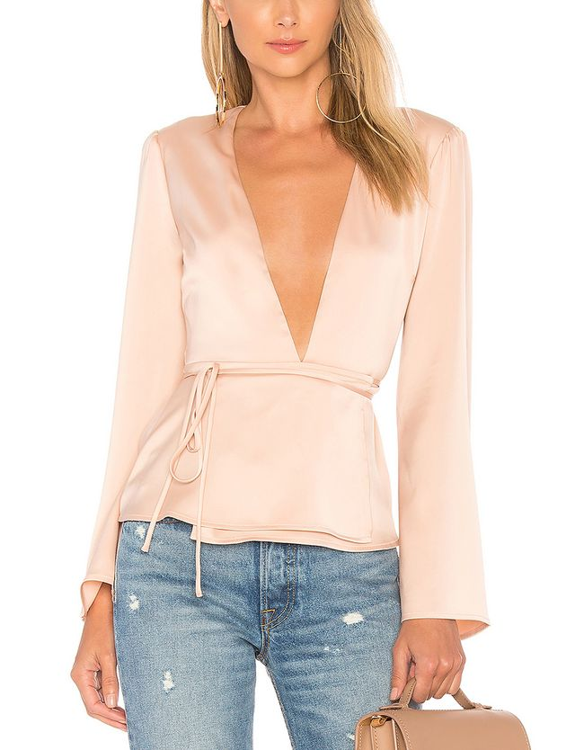 The Eliot Blouse in Pink. - size XL (also in L)