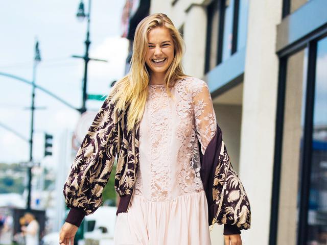 Bridget Malcolm wearing Zimmermann jacket