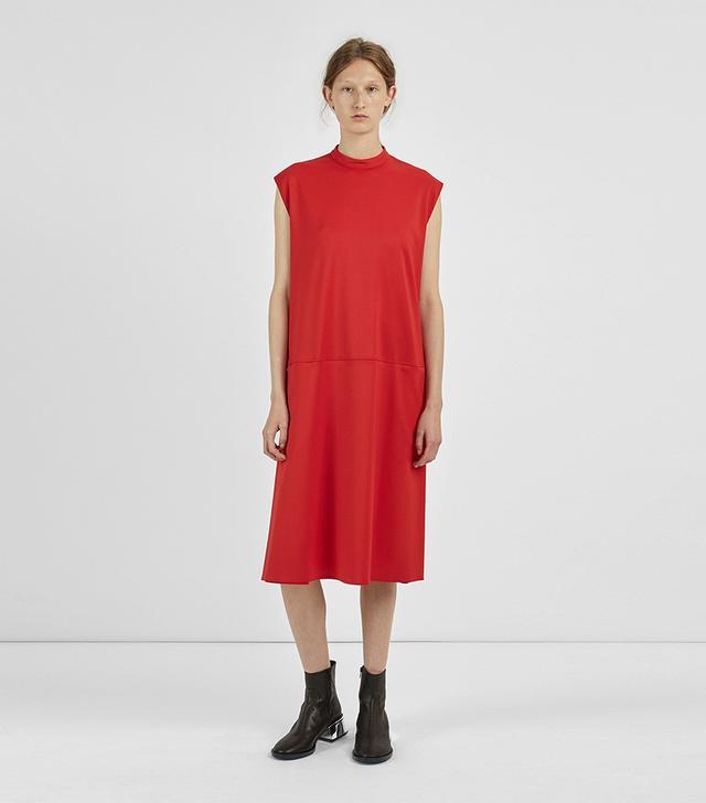 Suit Wool Twill Dress Red Size: IT 40