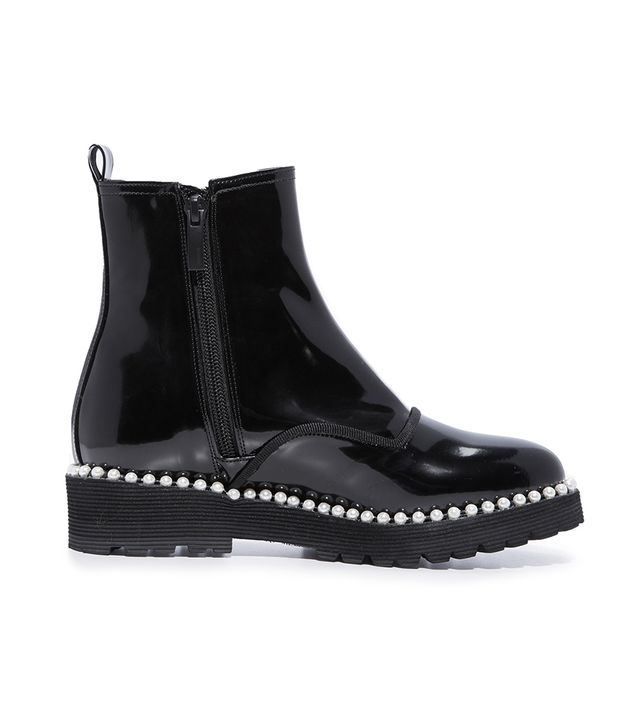Pearl Detailed Ankle Boots
