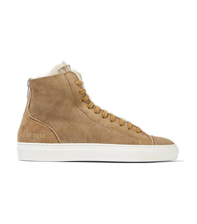 Tournament Suede And Shearling High-top Sneakers