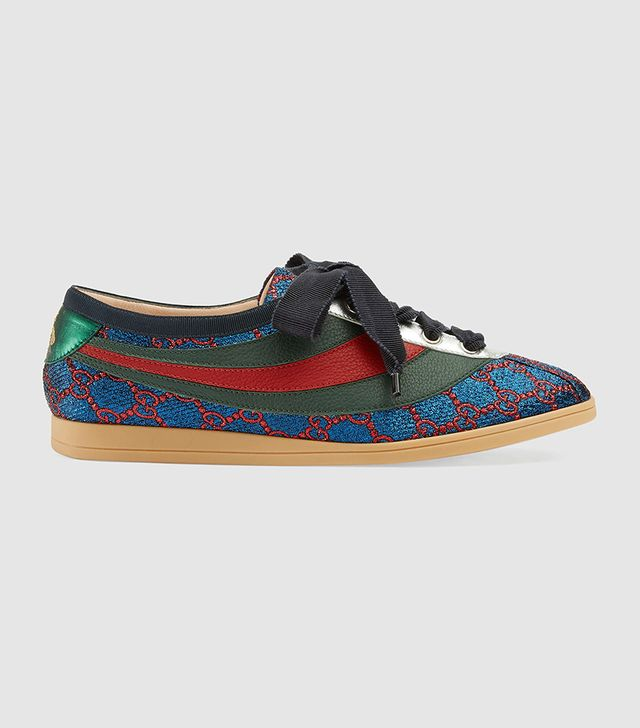 Falacer lurex GG sneaker with Web