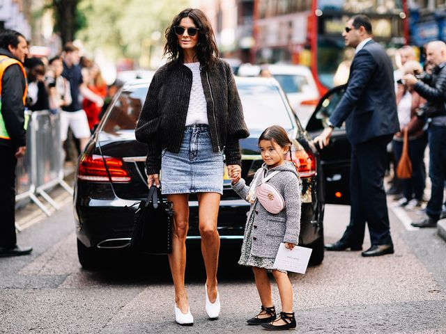 Hedvig Sagfjord Opshaug and Daughter Street Style