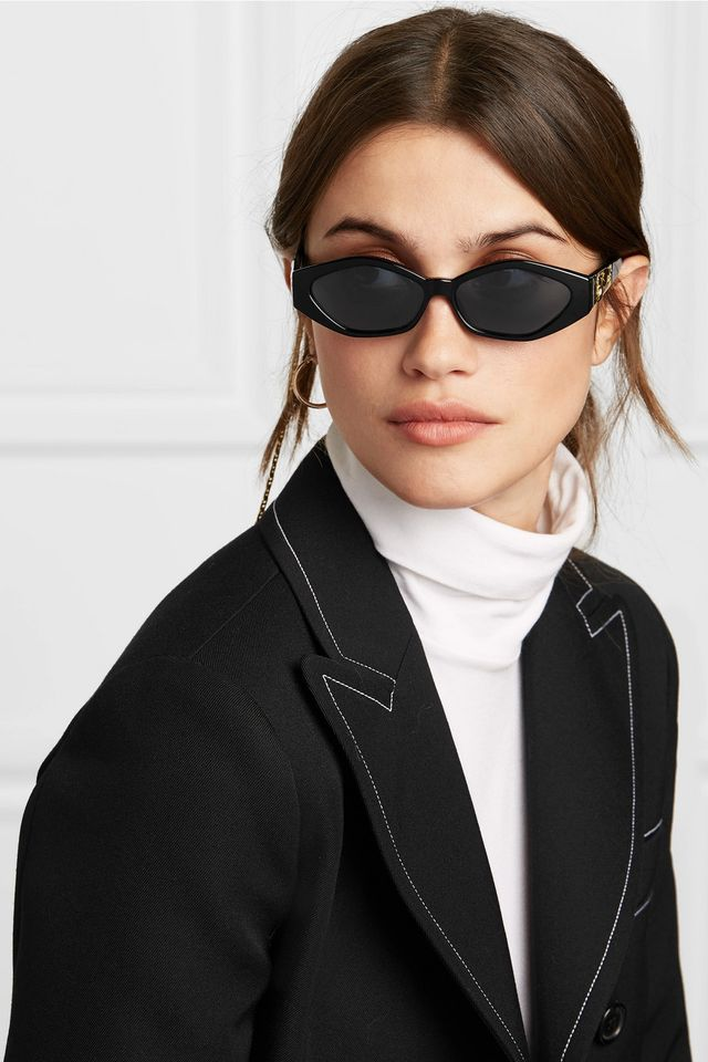 Jordan Askill Petit Panthère Cat-eye Acetate And Gold-tone Sunglasses