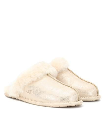 Scuffette II metallic suede slipper