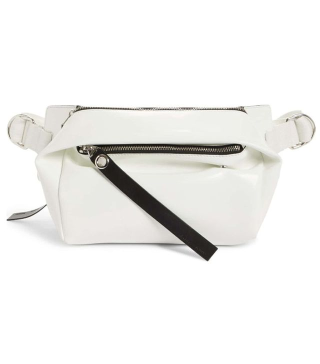 Pswl Faux Leather Fanny Pack - White
