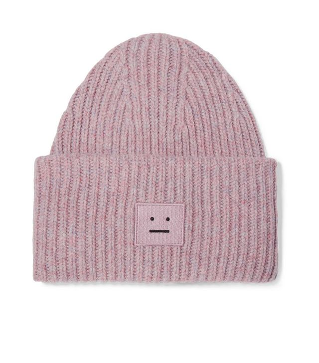 Mini Pansy Beanie in Pale Pink